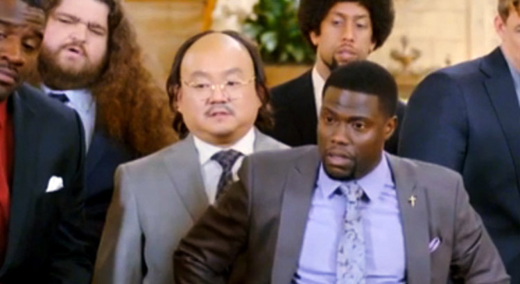 The Wedding Ringer.Aaron Takahashi In The New Kevin Hart Film The Wedding Ringer